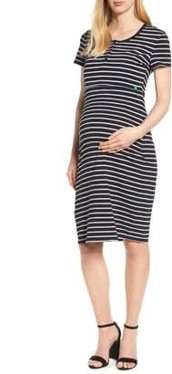 Modern Eternity Maternity/Nursing Henley T-Shirt Dress