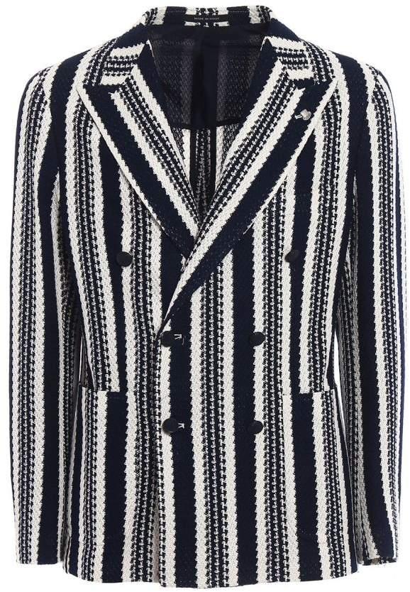 Mugello Double Breasted Striped Blazer