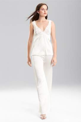 Josie Natori Rose Parfait With Silk Charmeuse Camisole