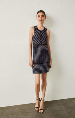 BCBGMAXAZRIA Window Stripe Jacquard Dress