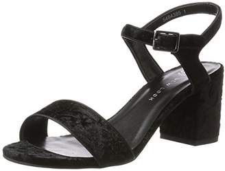 New Look 915 Girls' Sadie Platform Sandals (Black), (38 EU)