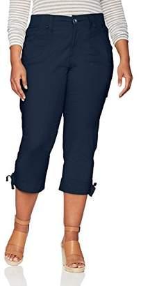 Lee Women's Plus Size Relaxed Fit Nikki Knit Waist Capri Pant