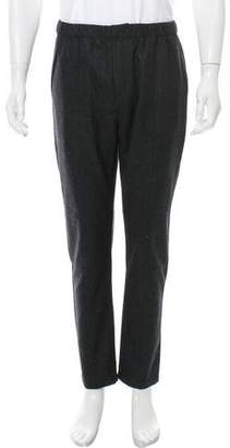 Givenchy Wool Zip-Accents Pants