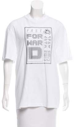 Alexander Wang Short Sleeve Graphic Top w/ Tags