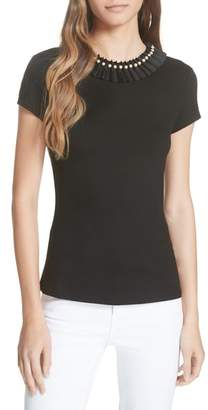 Ted Baker Nickita Imitation Pearl Neck Top