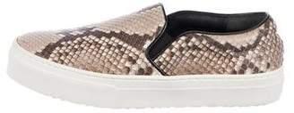 Celine Snakeskin Slip-On Sneakers