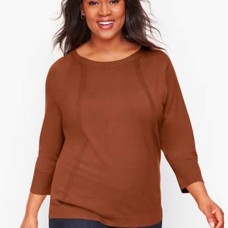 Talbots Pointelle Detail Dolman Sleeve Sweater