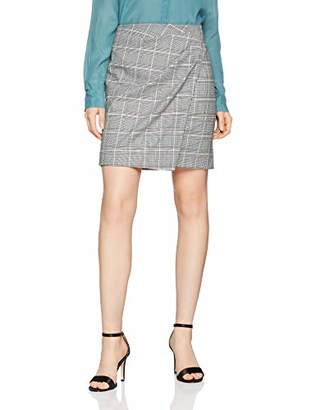 Comma Women's 81.902.78.8413 Skirt, (Grey/Black Check 99n7), (Size: 38)