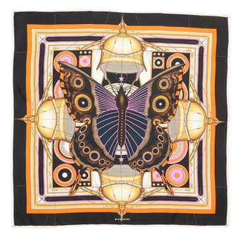 Givenchy New Butterfly Silk Scarf