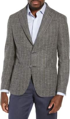 Luciano Barbera Trim Fit Stripe Alpaca Blend Sport Coat