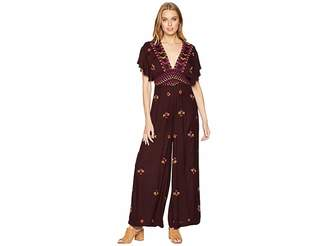 Free People Cleo Embroidered Jumpsuit Women's Jumpsuit & Rompers One Piece