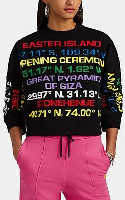 Opening Ceremony Women's Destination-Intarsia Cotton-Blend Sweater - Black