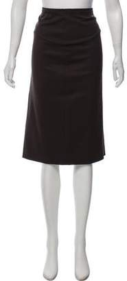 Alberta Ferretti Wool Knee-Length Skirt