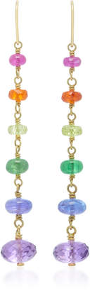 Mallary Marks Spun Sugar 18K Gold Multi-Stone Earrings