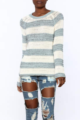 BB Dakota Harrington Stripe Sweater $84 thestylecure.com