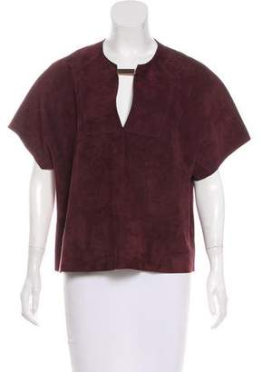 Joseph Suede Short Sleeve Top