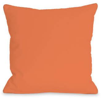 One Bella Casa Solid Outdoor Throw Pillow
