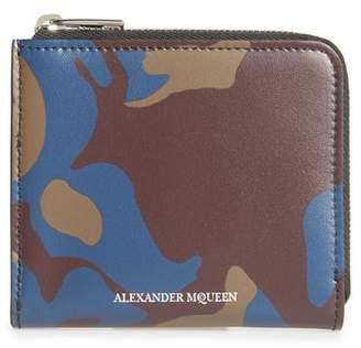 Alexander McQueen Leather Zip Coin Purse