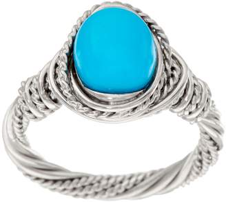 Sleeping Beauty Turquoise Wrapped Sterling Silver Ring