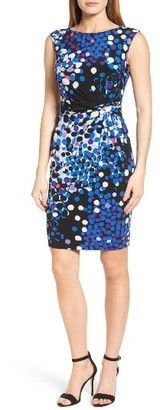 Women's Anne Klein Side Twist Jersey Sheath Dress $119 thestylecure.com