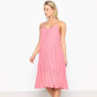 fd51eceaa14c9 La Redoute COLLECTIONS Pleated Maternity Dress with Shoestring Straps
