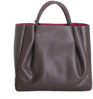 Alexandra de Curtis Maxi Ruched Tote Taupe