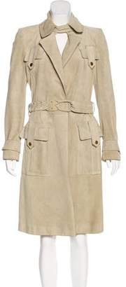 Gucci Suede Notch-Lapel Coat