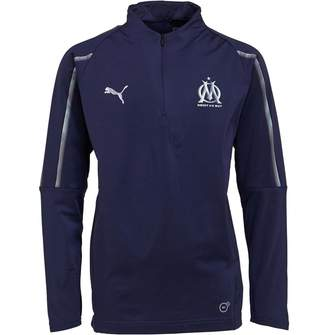Puma Junior Olympique Marseille 1/4 Zip Training Top Peacoat/Bleu Azur