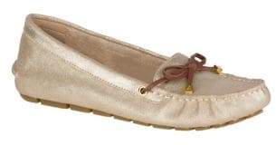 Sperry Metallic Leather Moccasins