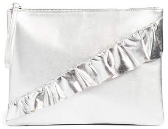 T-Shirt & Jeans Ruffle Charging Clutch