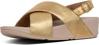 FitFlop Lulu Metallic Leather Back-Strap Sandals
