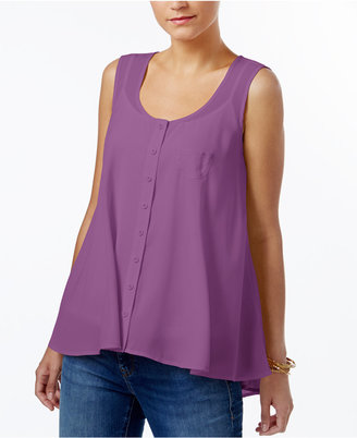 Style & Co Swing Sleeveless Blouse, Only at Macy's $49.50 thestylecure.com