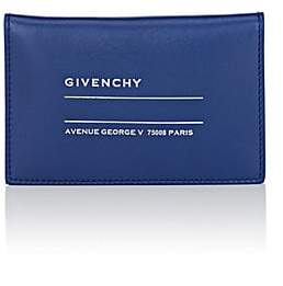 Givenchy Men's Logo-Address Leather Folding Card Case - Blue