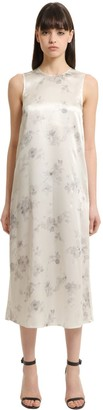 Calvin Klein Collection Floral Printed Silk Dress