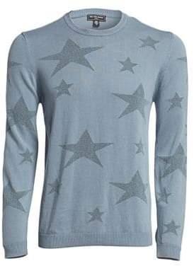 Saks Fifth Avenue MODERN Star Crewneck Cotton Sweater