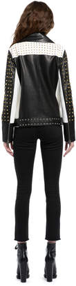 Alice + Olivia OLLIE STUDDED LEATHER JACKET