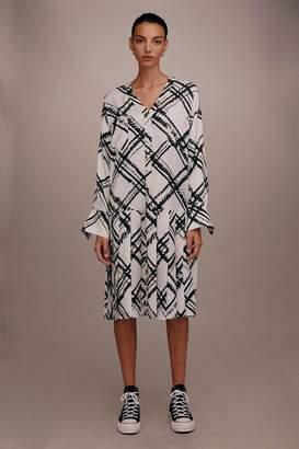 Topshop Drop Waist Pleated Dress by Boutique