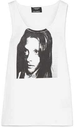 Calvin Klein Andy Warhol Foundation Printed Ribbed Stretch-cotton Jersey Tank - White