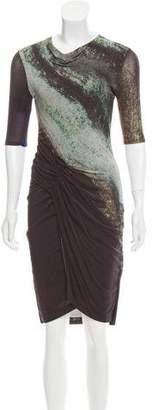 Helmut Lang Short Sleeve Midi Dress