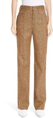 R 13 Slim Leopard Print Pants