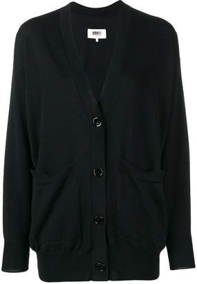 MM6 MAISON MARGIELA elbow-patch fitted cardigan