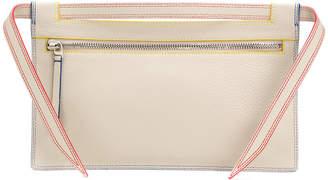Elena Ghisellini Nia multi stitch small pouch bag