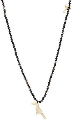 Luis Morais Men's Toucan & Monkey Beaded Necklace - Black