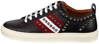 Bally Men's Hedern Studded Leather High-Top Sneakers