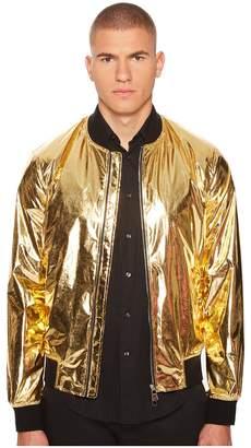 Versace Shiny Gold Bomber Men's Coat