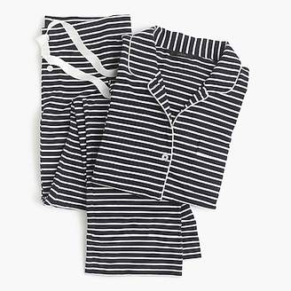 J.Crew Petite dreamy cotton pajama set in stripe