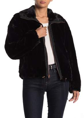 Lucky Brand Missy Short Faux Fur Jacket