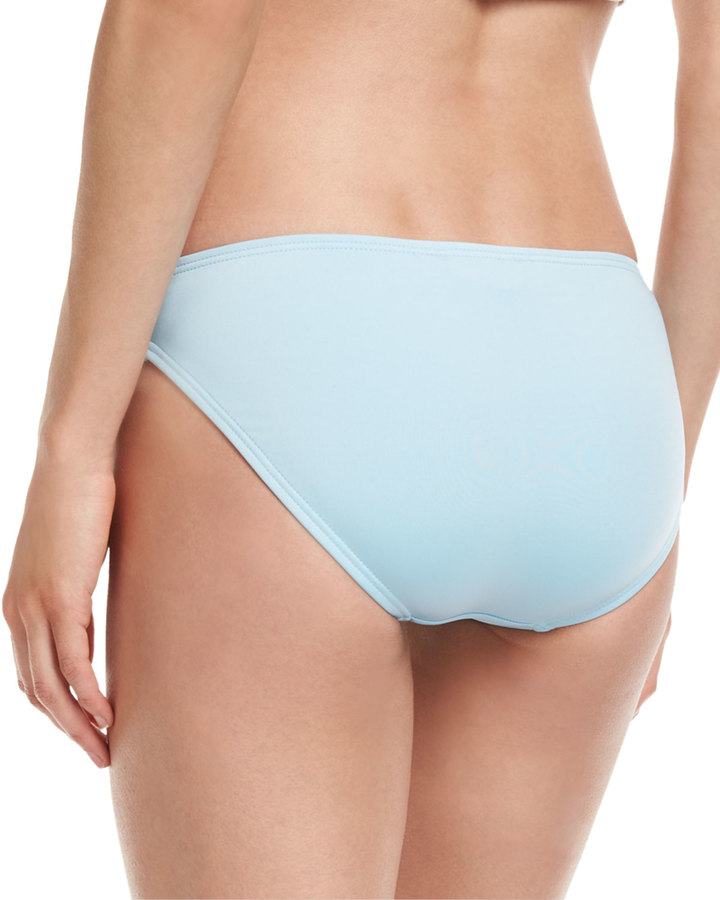 Carmen Marc Valvo Classic Hipster Swim Bottom, Powder Blue 2