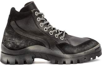 Premiata lace-up combat boots