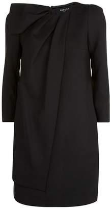 Paule Ka Asymmetric Bow Shift Dress